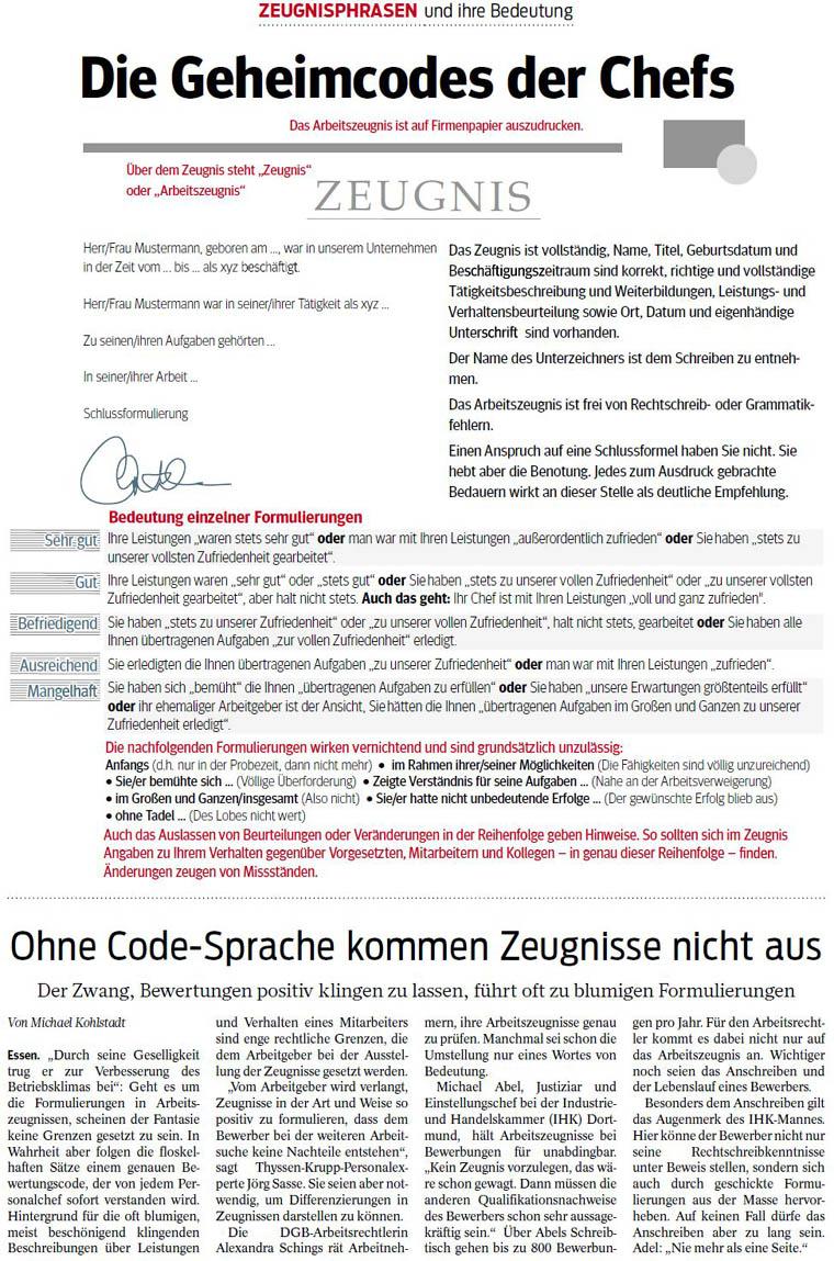 weiteres e book ber den geheimcode in interpunktions und satzzeichen - Schlechtes Arbeitszeugnis Beispiel